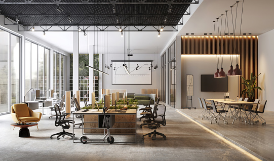 Three Dimensional「Large and modern office interiors」:スマホ壁紙(17)