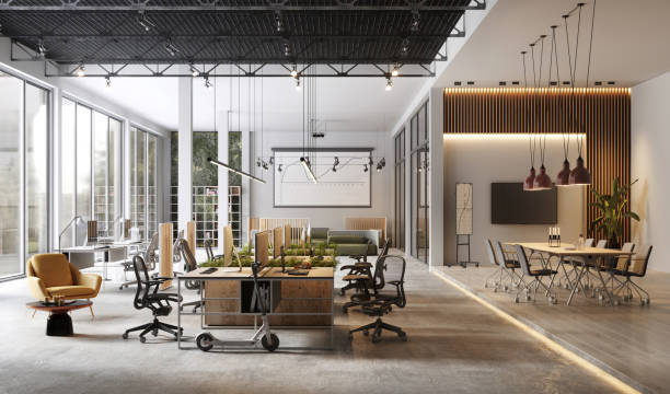 Large and modern office interiors:スマホ壁紙(壁紙.com)
