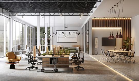 Open「Large and modern office interiors」:スマホ壁紙(1)