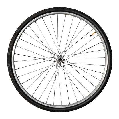 Tire - Vehicle Part「Vintage Bicycle Wheel Isolated On White」:スマホ壁紙(4)