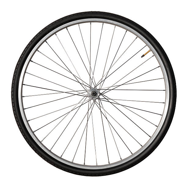 Vintage Bicycle Wheel Isolated On White:スマホ壁紙(壁紙.com)