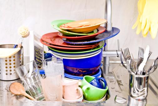 Bowl「washing-up in kitchen sink」:スマホ壁紙(4)