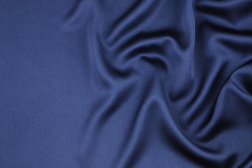Silk「Wavy blue satin」:スマホ壁紙(2)