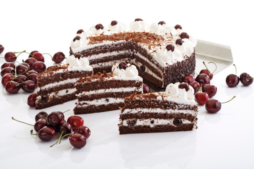 Flan Tart「Black Forest Cake and fresh cherries」:スマホ壁紙(8)