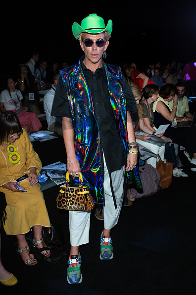 Multi Colored Coat「Day 3 - Front Row - Mercedes Benz Fashion Week Madrid Spring/Summer 2020」:写真・画像(18)[壁紙.com]