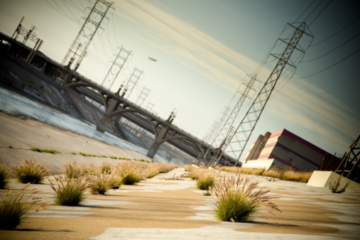 Electricity Pylon「LA River Bridges at Angle」:スマホ壁紙(1)