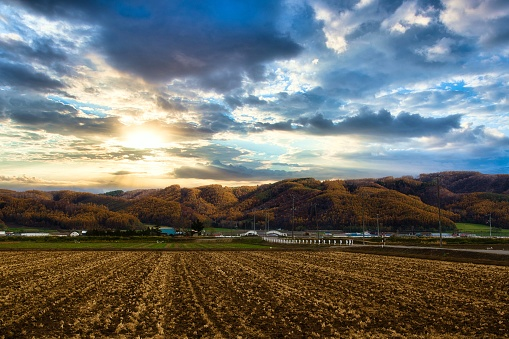 Hokkaido「Autumn hilly areas and mountain range」:スマホ壁紙(12)