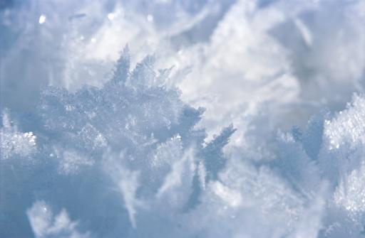 雪の結晶「Snowflakes, close-up」:スマホ壁紙(15)