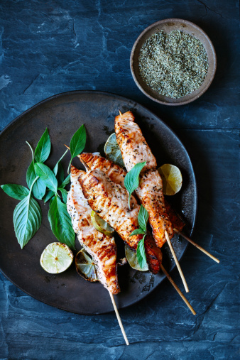 Thai Food「Salmon satay」:スマホ壁紙(1)