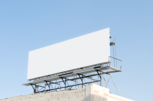 Advertisement「Outdoor blank billboard」:スマホ壁紙(3)
