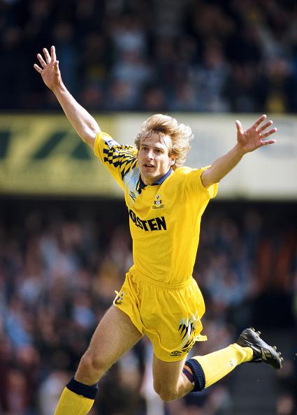 Celebration「Jurgen Klinsmann Tottenham Hotspur 1995」:写真・画像(6)[壁紙.com]