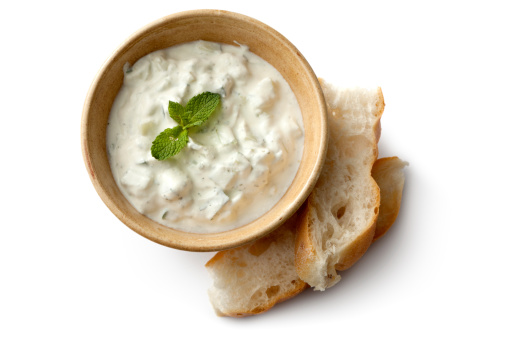 Tzatziki「Middle Eastern: Tzatziki and Bread」:スマホ壁紙(4)