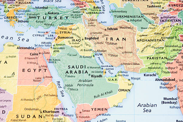 Middle East, Persian Gulf and Pakistan/Afganistan Region map - III:スマホ壁紙(壁紙.com)