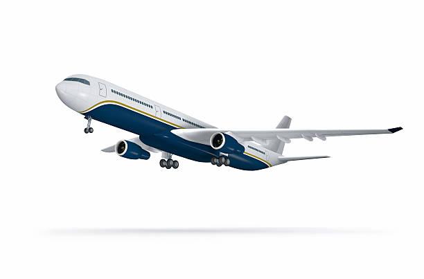 Passenger plane at take off on white:スマホ壁紙(壁紙.com)