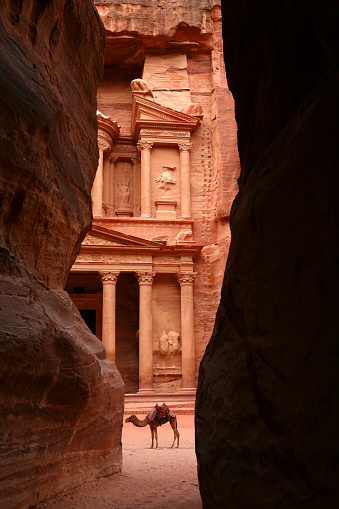Mausoleum「Jordan, Petra, part of Al Khazneh」:スマホ壁紙(4)