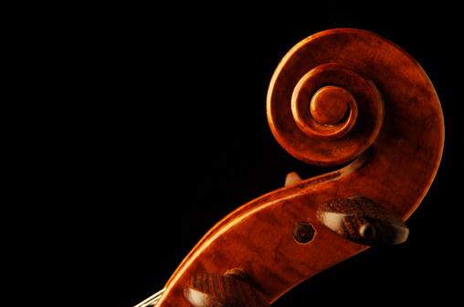 Tuning Peg「Twentieth Century Violin Scroll and Pegs on Black」:スマホ壁紙(17)
