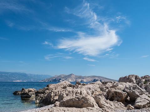 ビーチ「クロアチア海岸」:スマホ壁紙(7)