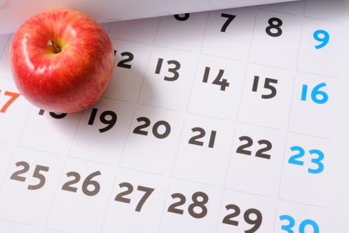 リンゴ「レッドアップルのカレンダー」:スマホ壁紙(7)