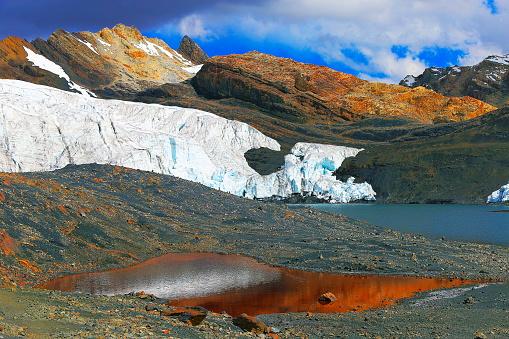 Alpenglow「Pastoruri Glacier and snowcapped Cordillera Blanca - Ancash Andes, Peru」:スマホ壁紙(12)