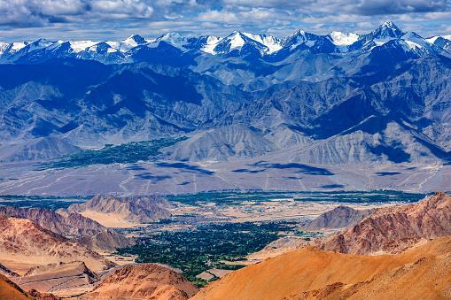 エクストリームスポーツ「チベット、インド、ラダックのレー バレーのビュー」:スマホ壁紙(8)