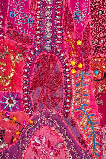 布柄「Rajasthani textile fabric embroidery」:スマホ壁紙(16)
