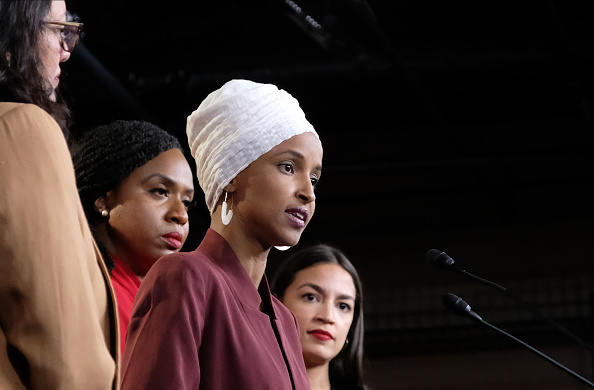 Alexandria Ocasio-Cortez「Congresswomen Ocasio-Cortez, Tlaib, Omar, And Pressley Hold News Conference After President Trump Attacks Them On Twitter」:写真・画像(4)[壁紙.com]