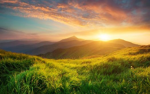 Grass「Mountain landscape」:スマホ壁紙(14)