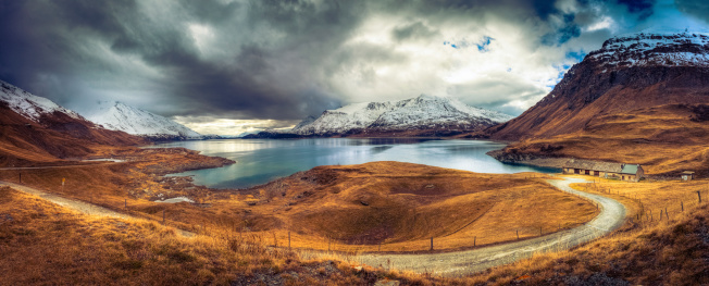 Chalet「Mountain landscape panorama」:スマホ壁紙(5)