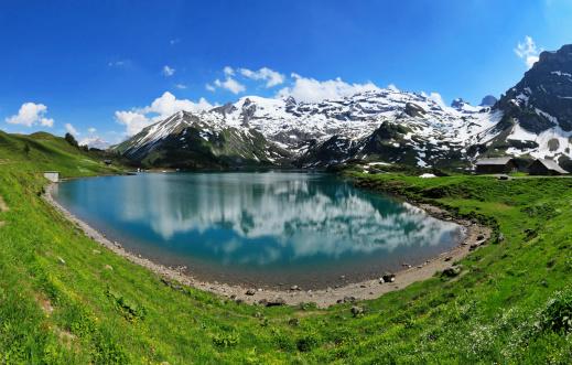 Eco Tourism「Mountain lake panorama, Switzerland」:スマホ壁紙(0)