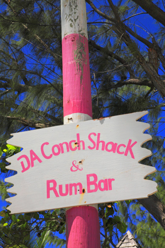 Wooden Post「Da Conch Shack sign Turks and Caicos」:スマホ壁紙(5)