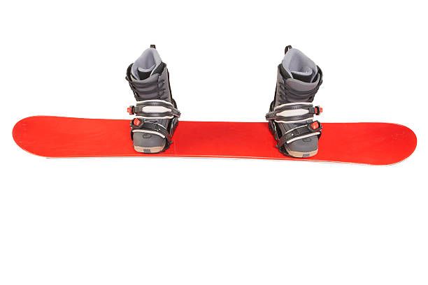Snowboard with boots and bindings attached:スマホ壁紙(壁紙.com)