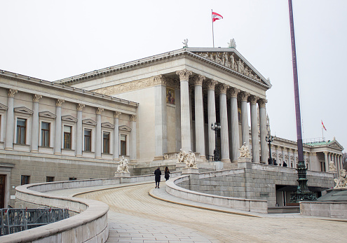 Politics and Government「The Austrian Parliament building in Vienna, Austria」:スマホ壁紙(15)