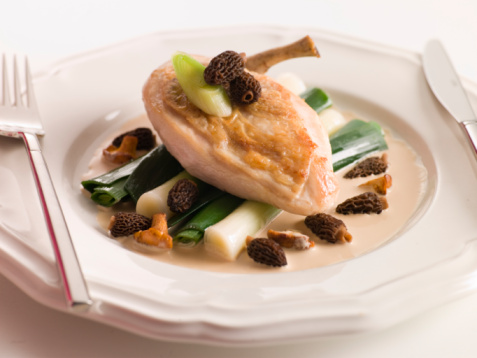 France「Breast of Chicken with Morels Baby Leeks and Madeira Cream」:スマホ壁紙(9)