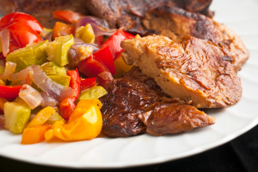 Saturated Color「Seitan or Wheat Gluten with Ratatouille Braised Vegetables」:スマホ壁紙(13)