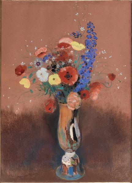 静物「Bouquet De Fleurs Des Champs Dans Un Vase a Long Col Wildflowers In Tall Vase」:写真・画像(16)[壁紙.com]