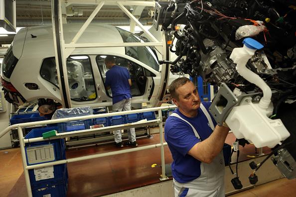 Wolfsburg - Lower Saxony「Car Production At Volkswagen Wolfsburg Plant」:写真・画像(0)[壁紙.com]