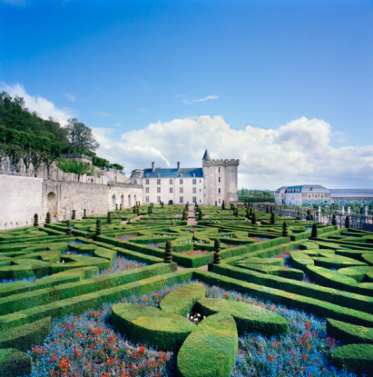 Castle「France, Villandry, Caen, castle and baroque French garden」:スマホ壁紙(10)