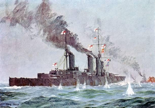 Battle cruiser HMS Lion during Battle of Jutland:スマホ壁紙(壁紙.com)
