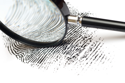 Magnifying Glass「Magnifying glass on Fingerprint」:スマホ壁紙(17)