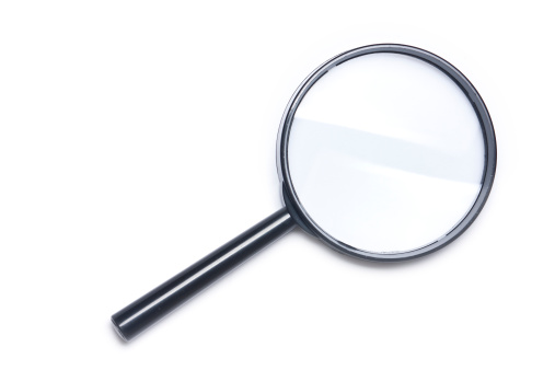 Vector「拡大鏡、白い背景の上にカットアウト」:スマホ壁紙(11)