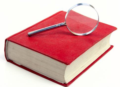 Eyesight「Magnifying glass on a red book」:スマホ壁紙(12)