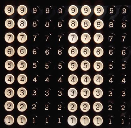 1990-1999「Antique mechanical calculator key pad」:スマホ壁紙(11)