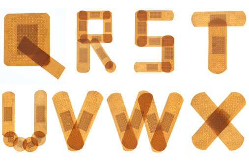 Letter S「Band aid font alphabet」:スマホ壁紙(19)