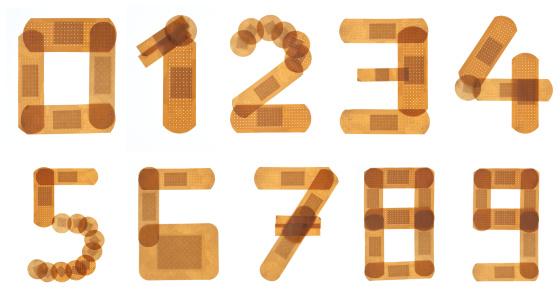 Number 9「Band aid font alphabet」:スマホ壁紙(17)