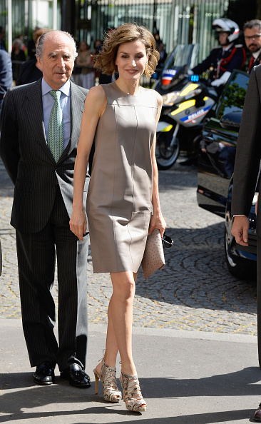 Leather Dress「King Felipe Of Spain and Queen Letizia Of Spain On Official Visit In France : Day 3」:写真・画像(18)[壁紙.com]