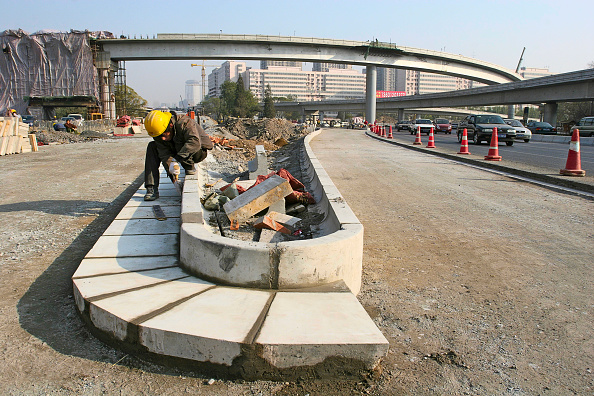 Cement「Constructing a highway intersection in central Beijing」:写真・画像(17)[壁紙.com]