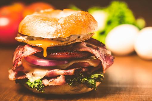 Hamburger「Bagel sand like american hamburgers」:スマホ壁紙(4)