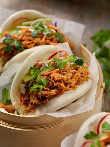 Fusion Food「Steamed Bao Buns with Pulled Pork」:スマホ壁紙(12)