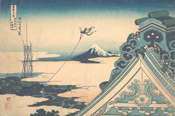 Mount Fuji「Honganji At Asakusa In Edo (Toto Asakusa Honganji)」:写真・画像(19)[壁紙.com]