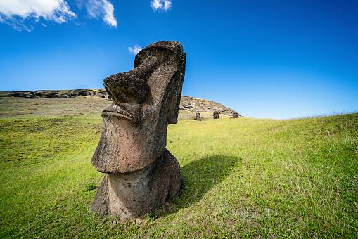Ancient Civilization「Moai Rano Raraku Easter Island Statue Rapa Nui」:スマホ壁紙(18)